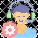 Customer Service Management Gear Icon