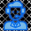 Customer Service Man Icon
