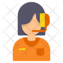 Customer Care Woman Avatar Icon