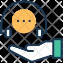 Care Representative Headphone Icon