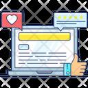 Customer Feedback Testimonials Social Likeness Icon