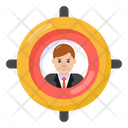 Headhunting Focus Person Target Customer Icon