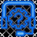Customer Service Headphone Gear Icon