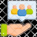 Customer Hand People Icon