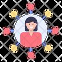 Employee Link Employee Network Employee Connection Icon