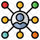 Customer Network Customer Connection Group Icon