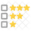 Customer Rating Rate Stars Icon