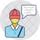 Delivery Man Talk Icon