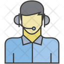 Call Center Man Support Icon