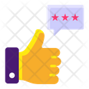 Customer Review Feedback Thumbs App Icon