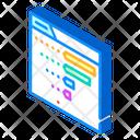 Review Statistics Isometric Icon