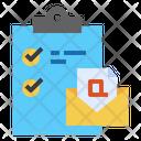 Clipboard Mail Checklist Icon
