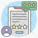 Customer Survey Feedback Evaluation Icon