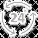 Full Service Twenty Four Hours Call Center Icon