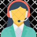 Representative Female Customer Icon