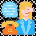 Customer Service Woman Avatar Icon