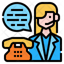 Customer Service Woman Avatar Icon