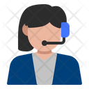 Customer Service Avatar Woman Icon