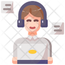 Avatar Call Center Service Icon