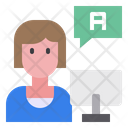 Customer Service Woman Support Icon