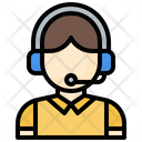 Call Center Agent Customer Support Professions And Jobs Icon