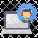 Customer Representative Online Consultation Customer Service Icon