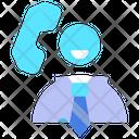 Customer Service Telephone Help Icon