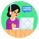 Call Center Helpline Customer Support Icon