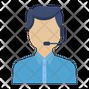 Customer Service Contact Center Representative Icon