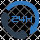 24 Hour Customer Phone Icon