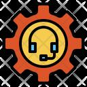 Customer Headphone Gear Icon