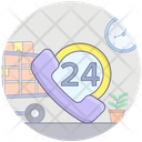 Customer Services Helpline 24 Hour Services Icon