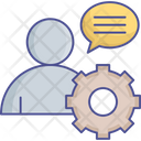Customer Services Online Support Technical Assistance Icon