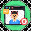 Customer Services Helpline Web Support Icon