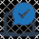 Checkmark Done Laptop Icon