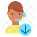 Support Downloadm Customer Support Male Operator Icon