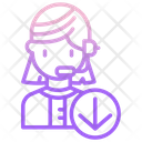 Support Download M Customer Support Female Operator Icon
