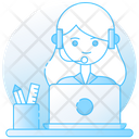 Customer Center Customer Support Telephone Service Icon
