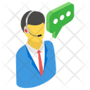 Technical Support Call Center Customer Service Icon