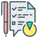 Customer Survey Questionnaire Checklist Icon
