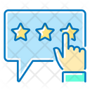 Customer Survey Rating Stars Icon