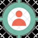 Customer Target Focus Marketing Icon