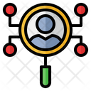 Customized Search Customer Network Research Icon