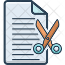 Cut Deal Document Icon