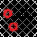 Text Cut Scissor Icon