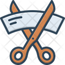 Cut Ribbon Scissors Icon