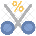 Cut Percentage Scissor Icon