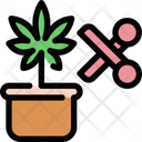 Scissor Cannabis Marijuana Icon