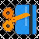Cut Credit Card Icon