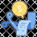 Cut General Expensescut Bill Icon